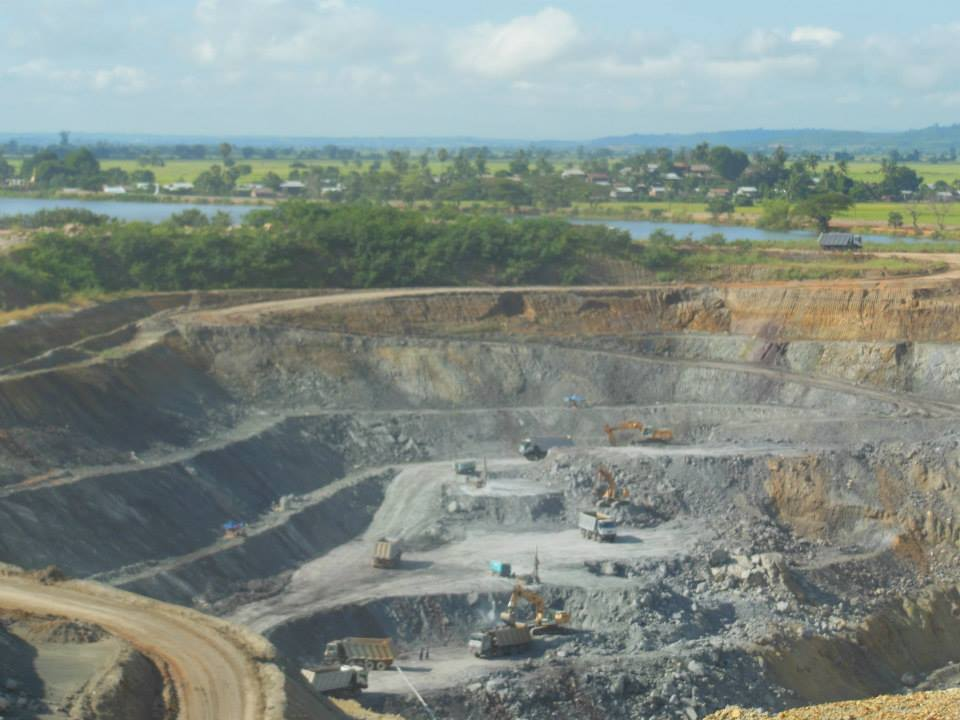 Open-pit gold mine in the Shan hills.