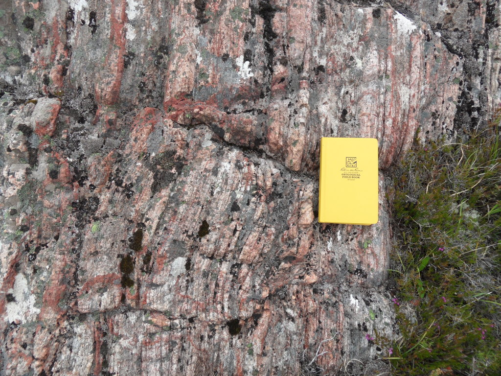 An example of the banded gneiss that makes up the bulk of the Lewisian Gneiss Complex.