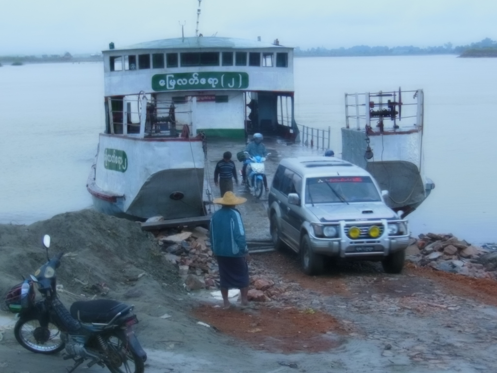 Ferry crossing the Irrawaddy River.