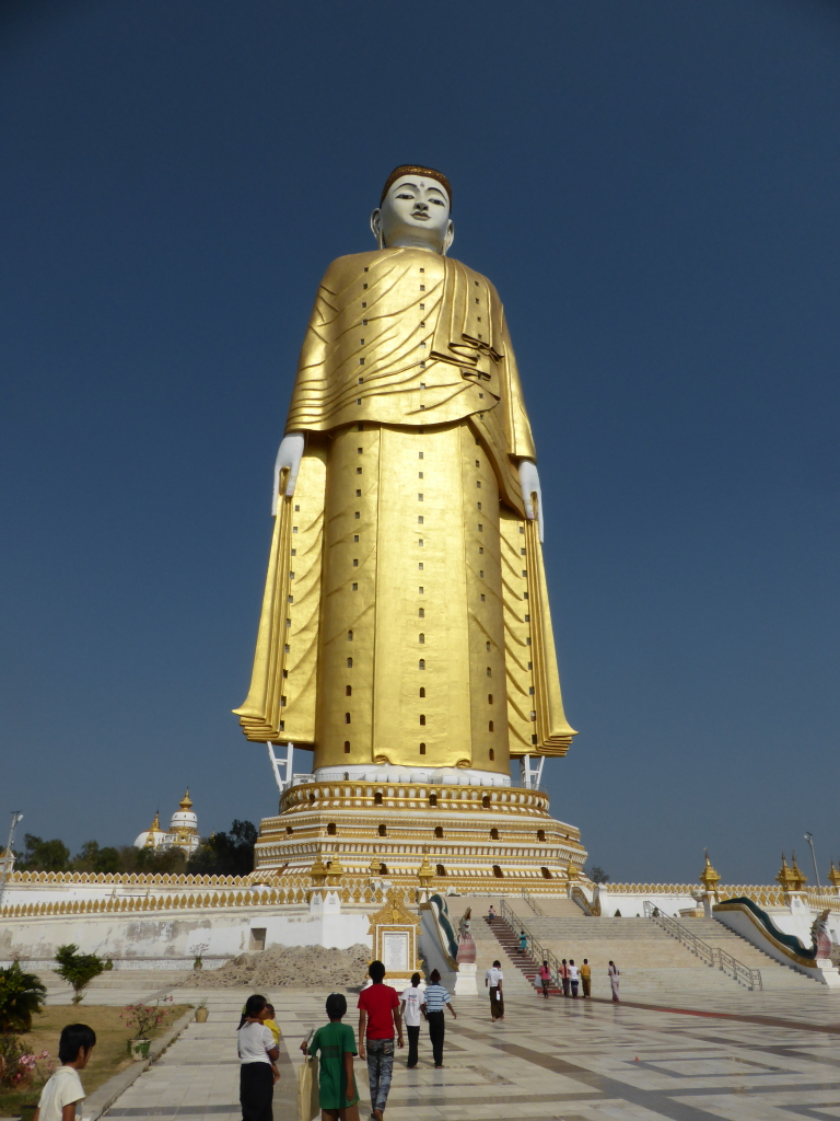 Laykyun Sekkya. At 116 meters (381 feet) tall, it is the second tallest statue in the world.