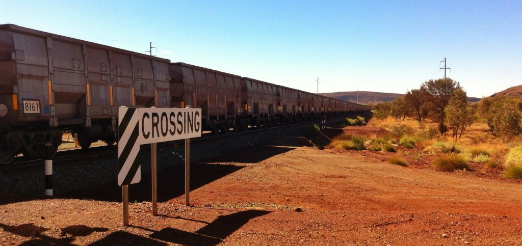 Ore trains in the Pilbara are often over a kilometre long.
