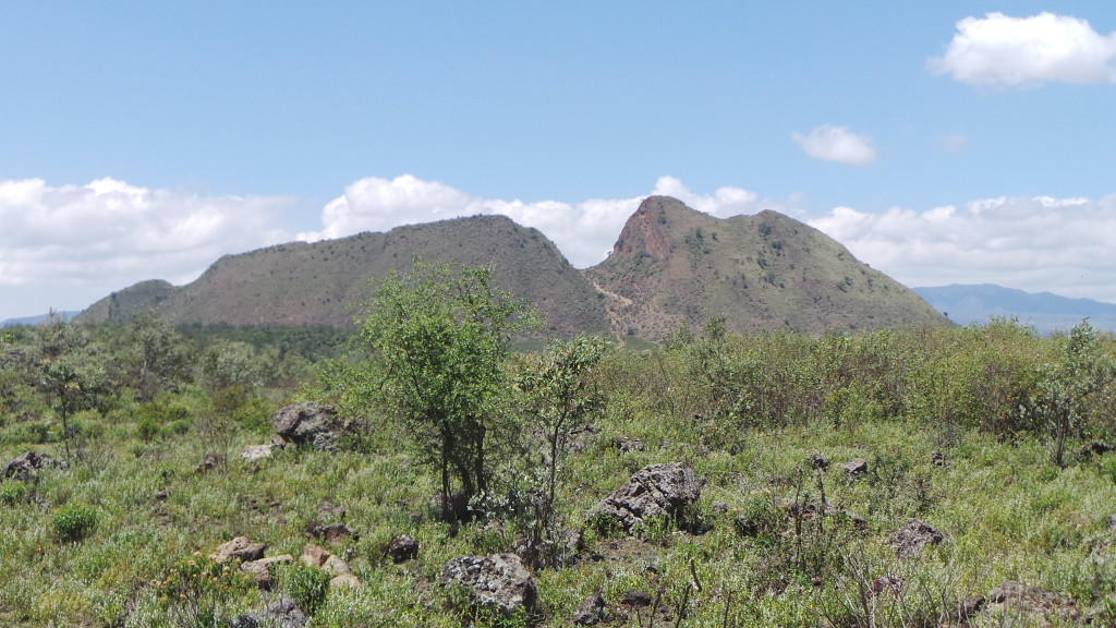 Sleeping Warrior, the depression in the crater rim clearly seen in the centre of the image, is part of a fault trace that can also be seen on the other side of the volcano.