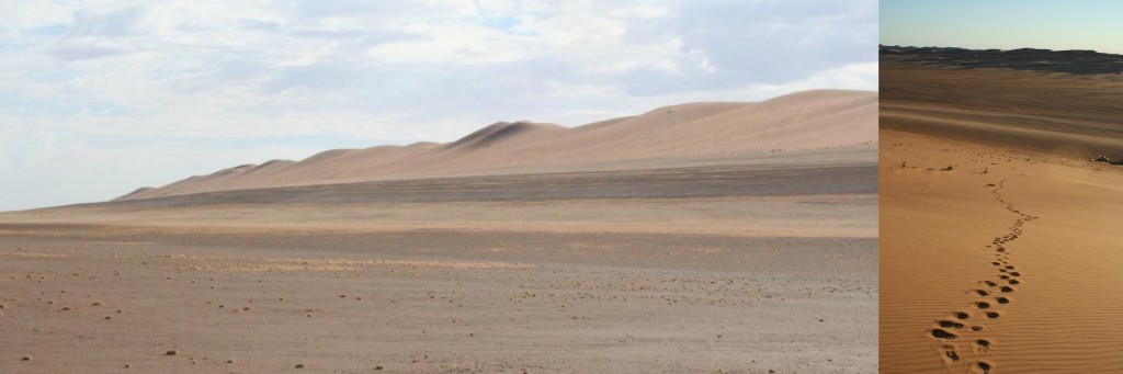 Photo 6: (LH) Stripy layers of mud and sand (bliss). (RH) View from the top well worth it!