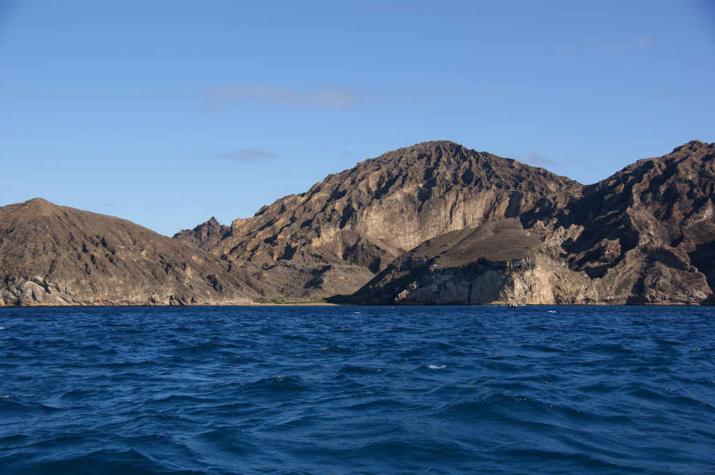 Island in the east are not volcanically active, hence their more eroded nature