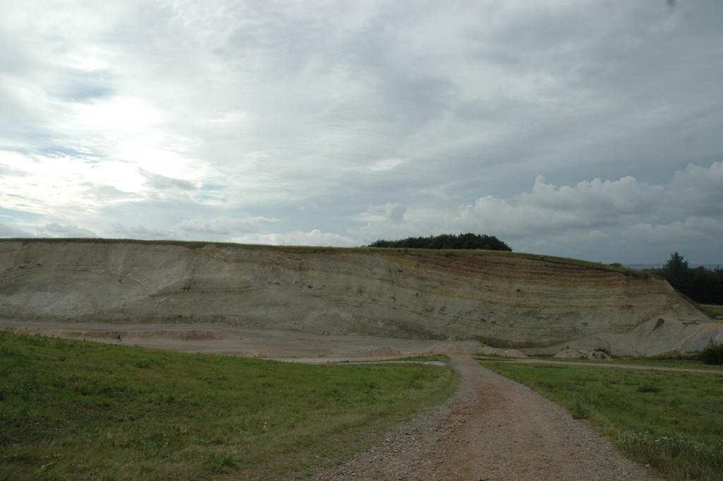 A part of a large Moler pit next to the museum on Mors.