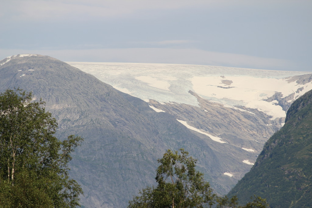 Distant view of Jostedalsbreen: continental Europe's largest glacier.