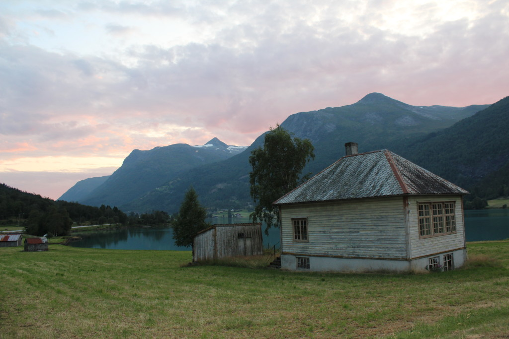 Old farmhouse in fjord region of norway
