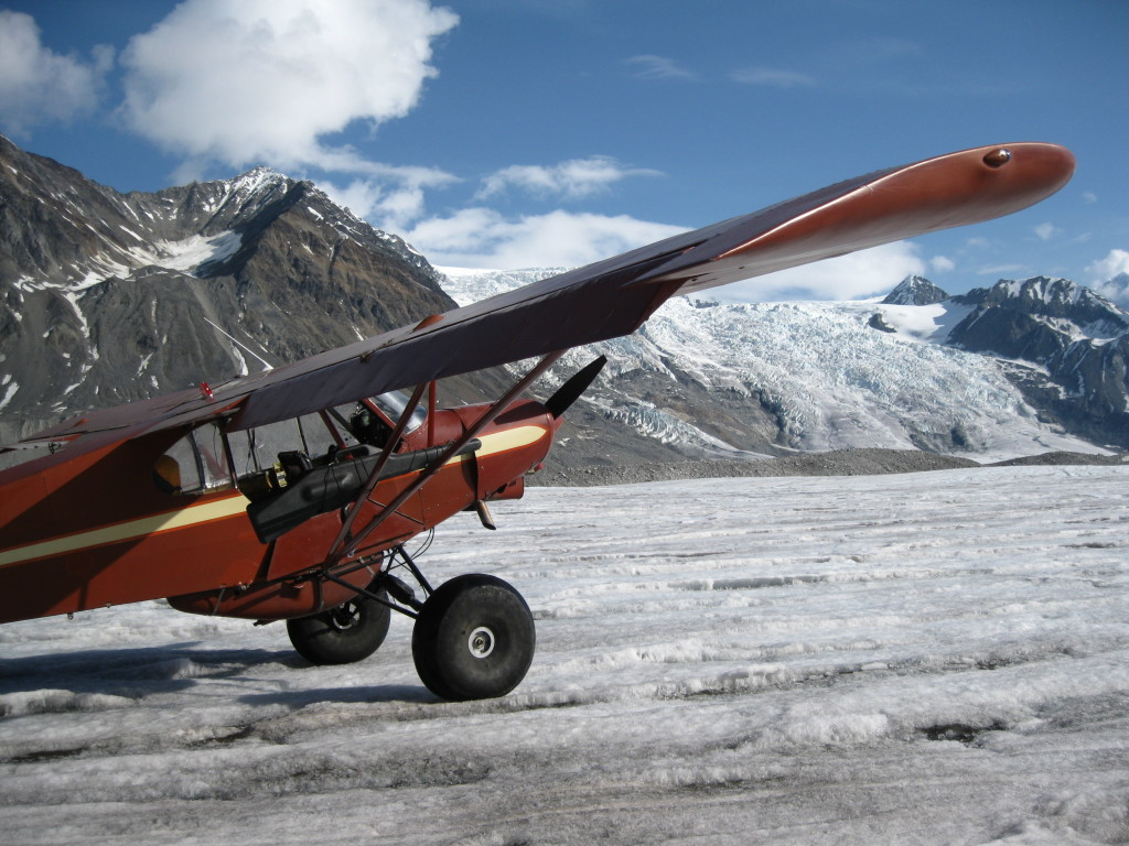Supercup after landing on the West Fork Susitna Glacier and dropping me and gear off before heading out to pickup the rest of the research crew.