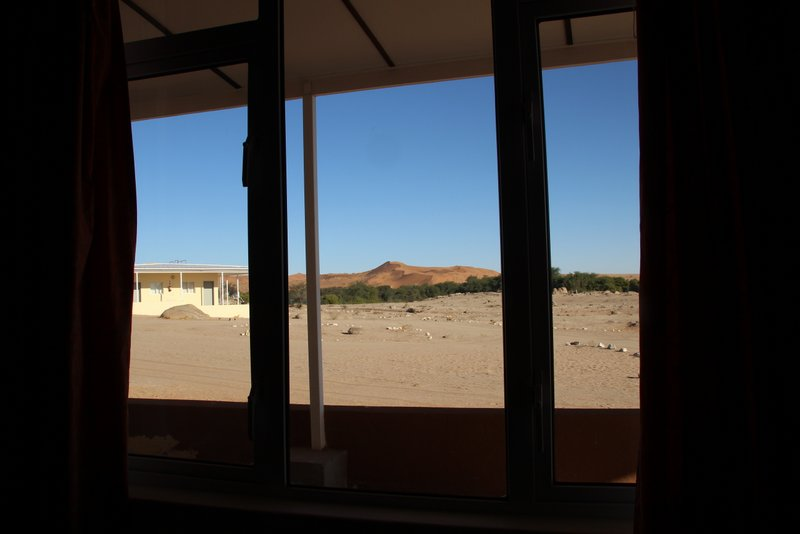 Room with a view of the last line of trees before an almost 400 km stretch of sand dunes.