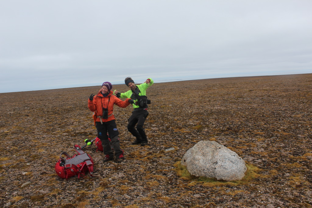 The victory dance upon finding the first erratic we sampled for cosmogenic exposure dating.