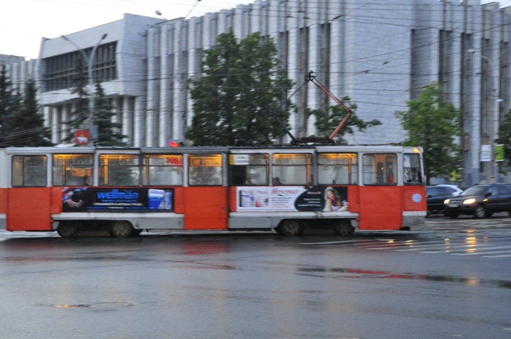 Old trams and seventies-style concrete: The heritage from Soviet time is still evident in Perm.