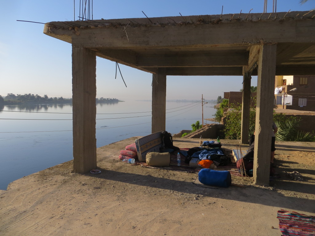 Undisrupted views of the Nile from the comfort of your sleeping bag.
