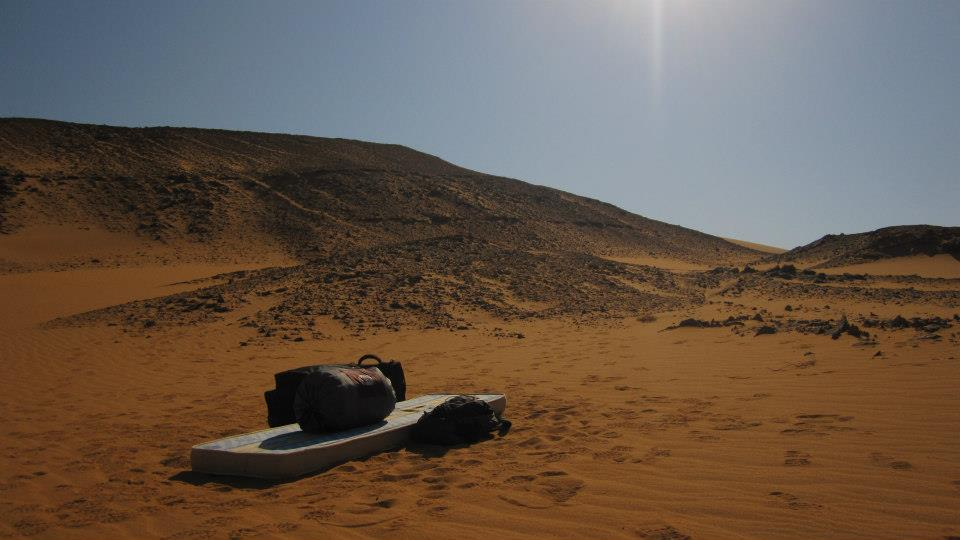 Camping under the stars in Wadi Kharit.