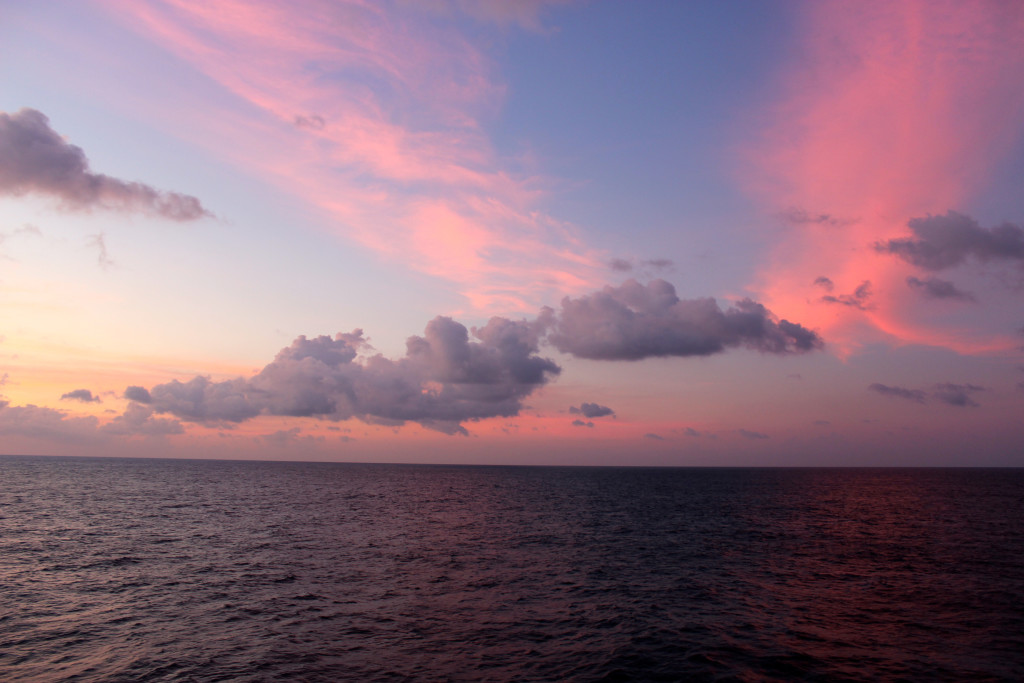Another gorgeous sunset at sea. I guess this job ain't so bad.