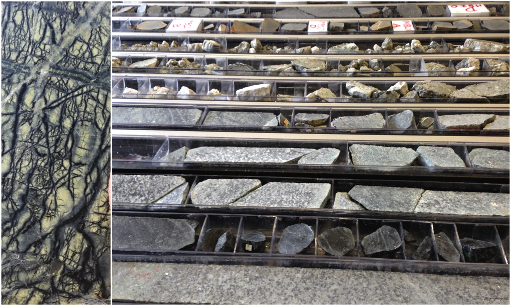 [D] Example of a hard rock core (left); [D] Lots of hard rock cores! (right)