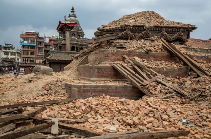 Figure 8. Ruined temples in Patan's Durbar square near Kathmandu.