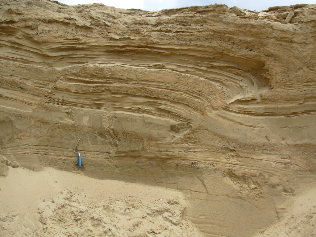 Fig. 1: Faults developed in unconsolidated deposits in northern Germany.