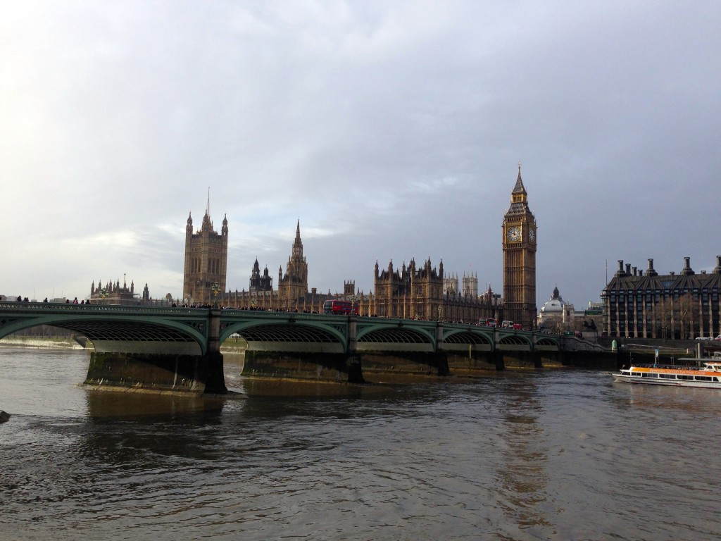 An iconic view across the River Thames