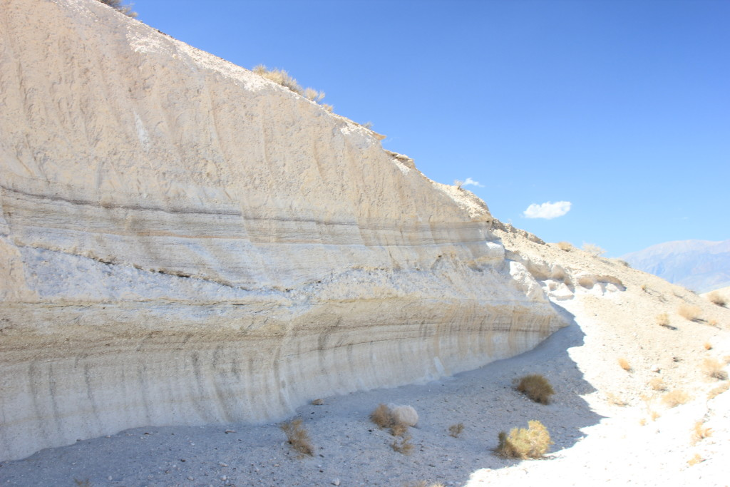 Airfall and ignimbrite deposits of the Bishop Tuff.
