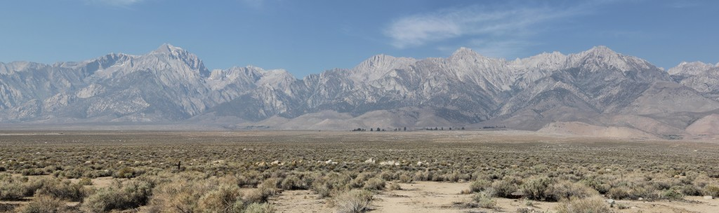 Mt Whitney, the highest point in the 48 states, seen from Owens Valley.