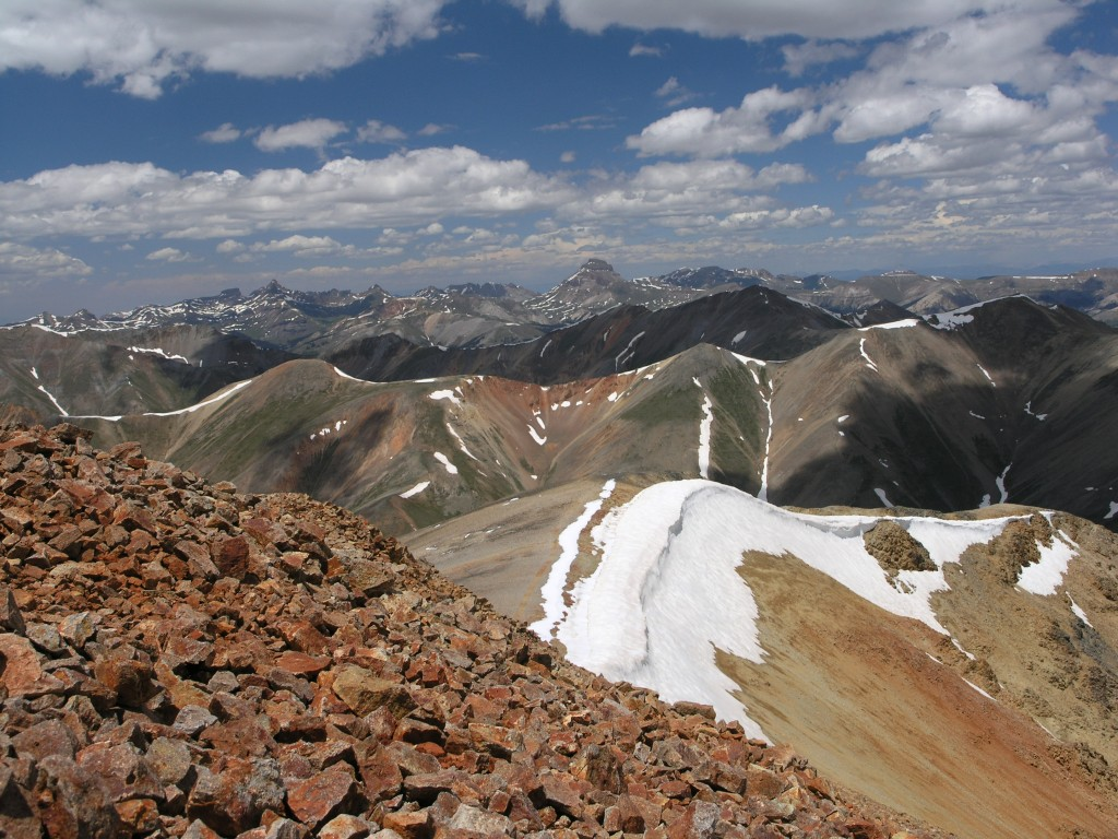 The view from Sunshine Peak