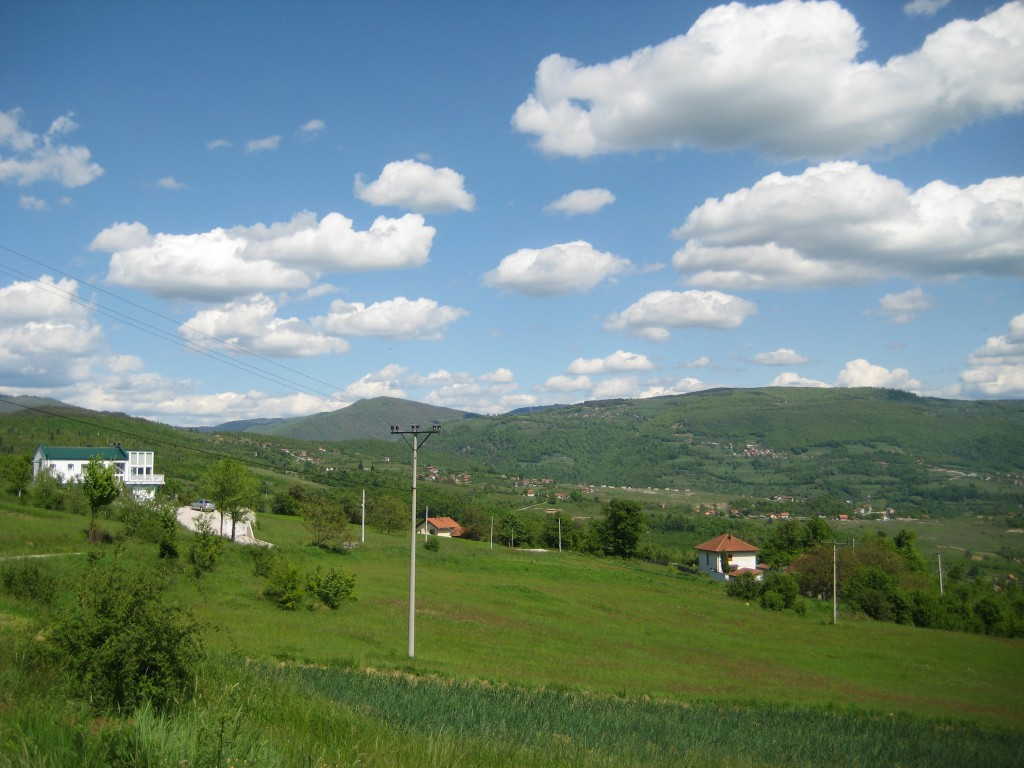1.Peaceful Bosnian countryside. No outcrops, unless you know where to find them!