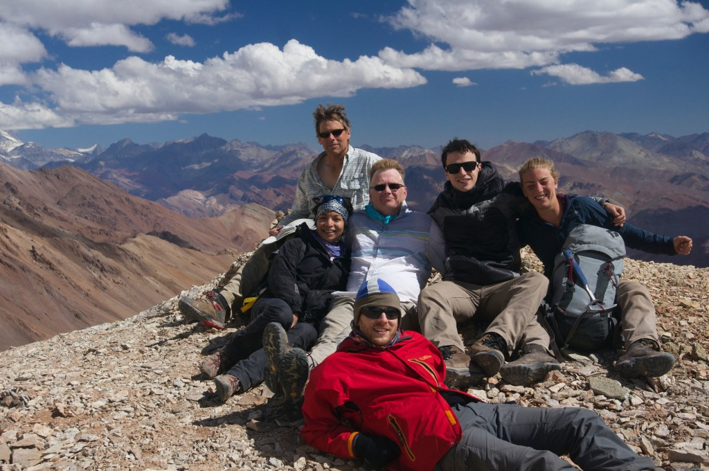 Most of the group at the top of the Cordón del Espinacito.