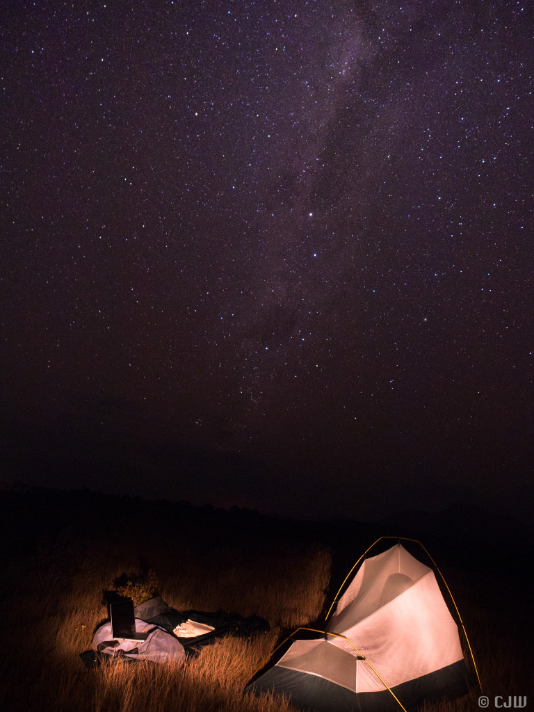 Figure 3: Camping under the stars on the east coast. Photo: Catherine Wheller