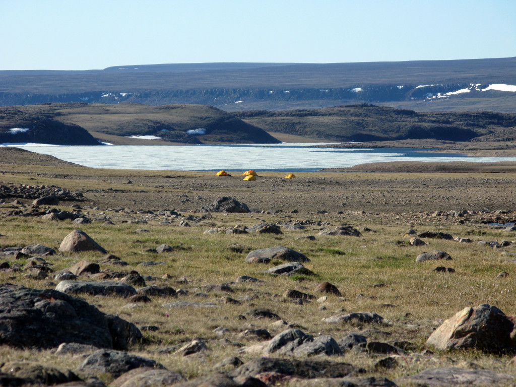 Another one of our smaller camps; we picked locations that were close to the outcrops but also near a source of water.