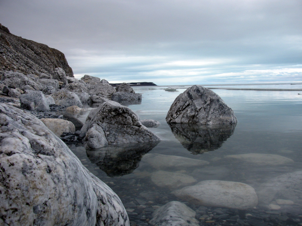 Tranquil waters of the Minto Inlet on a calm day.
