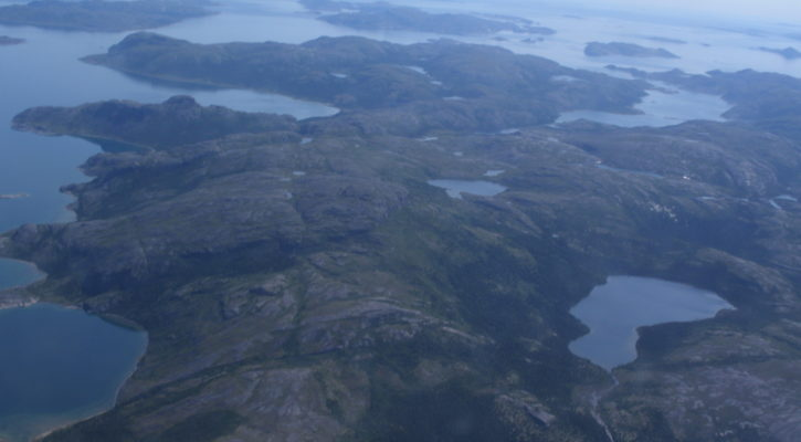 Figure 3: Landscape between Goose Bay and Nain.