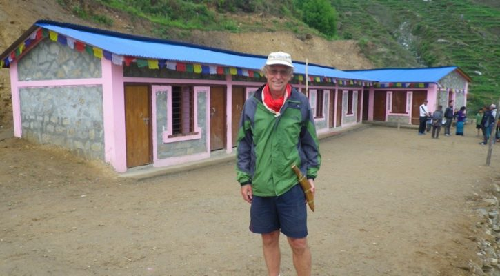 Rebuilding one village and school after the Gorkha earthquake, Nepal with Mike Searle