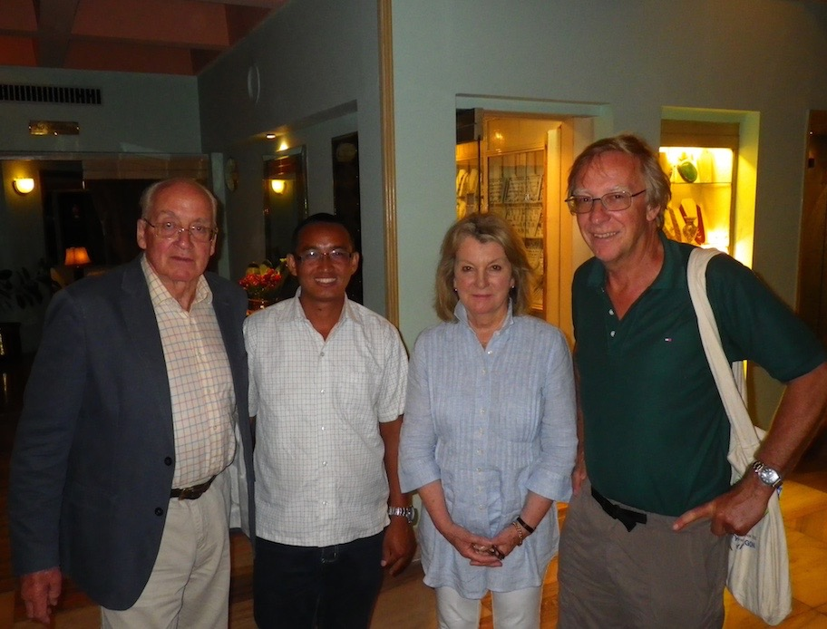 Doug and Trish Scott, Directors of Community Action Nepal with Suka Ghale and Mike Searle.