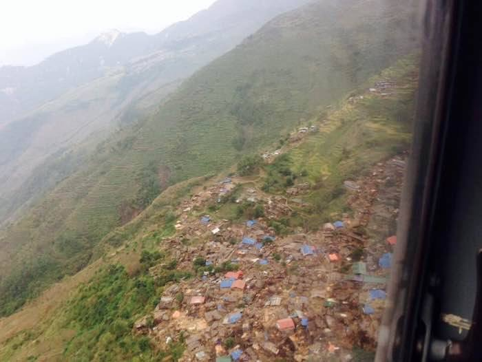 Destroyed villages above the Gorkha epicenter after the earthquake.