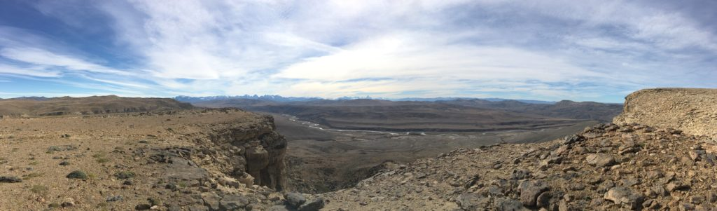 At the top of a measured section looking northwest toward Rio Guanaco and Mt. Fitz Roy