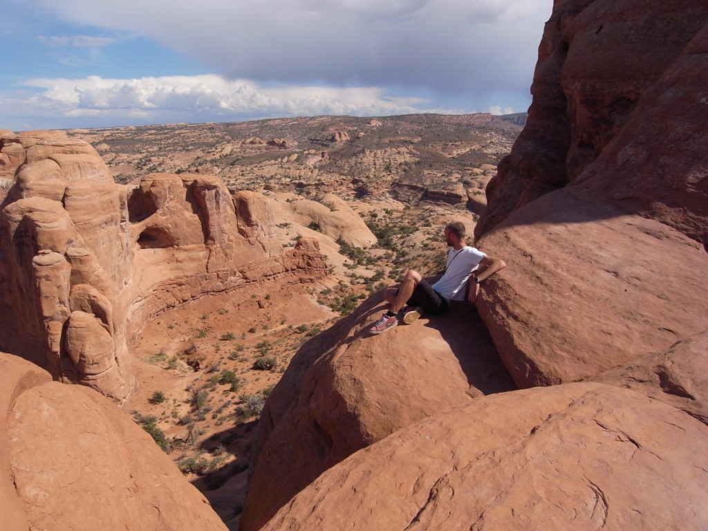 Me enjoying the view at Arches National Park.