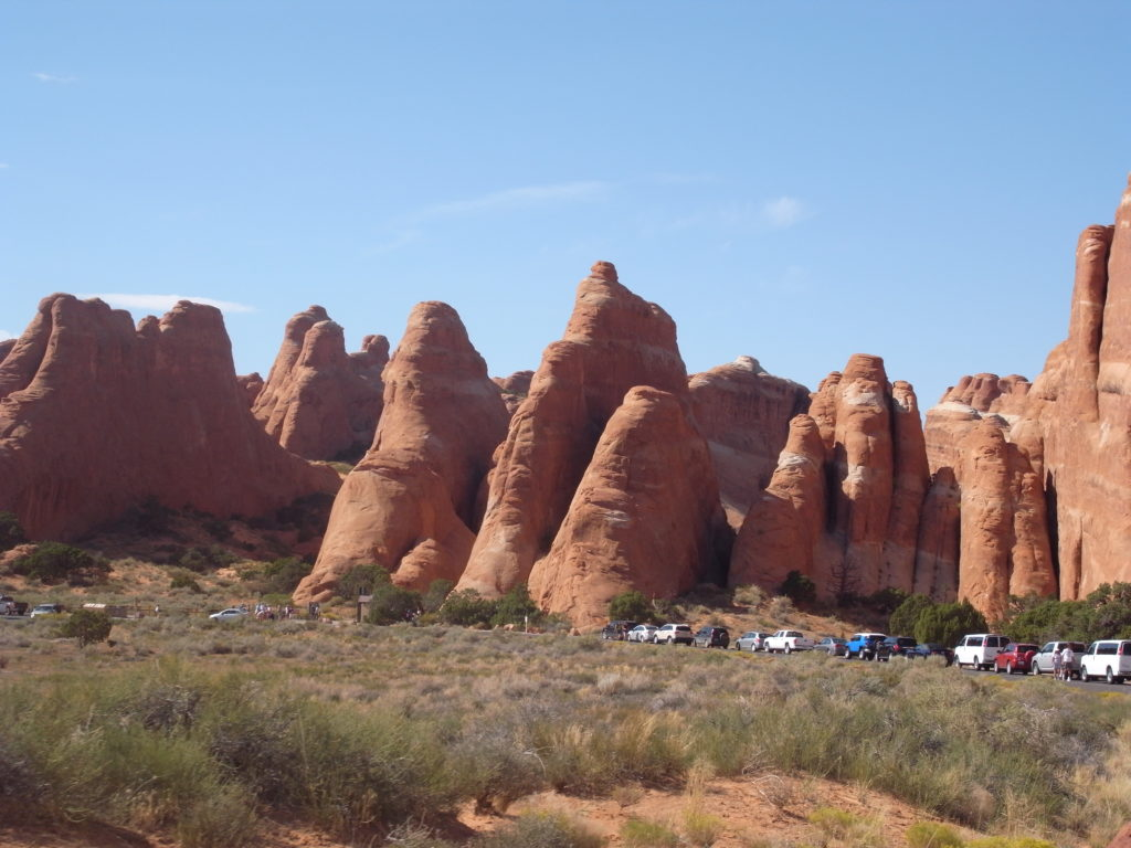 Amazing sandstone formations at Arches National Park