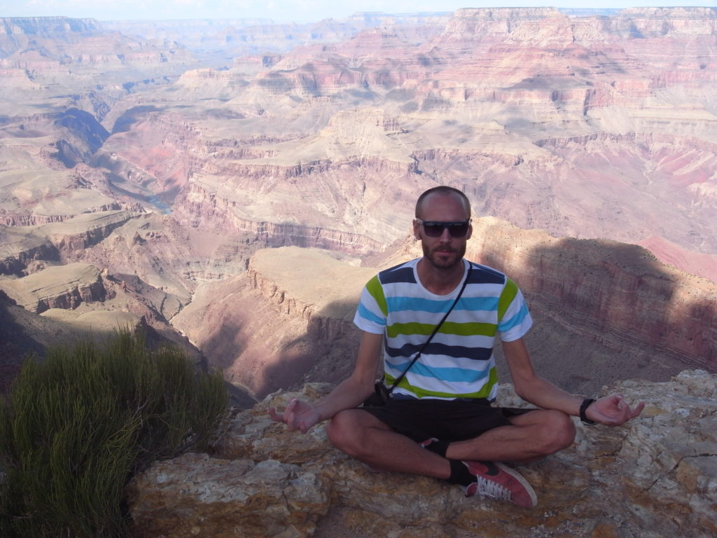 Finding inner peace at the Grand Canyon.