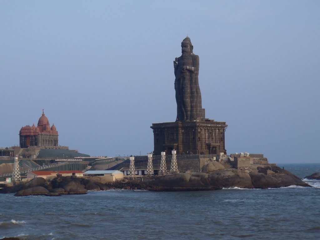 The statue out to sea at Kanyakumari. Photo: Eleanore Blereau