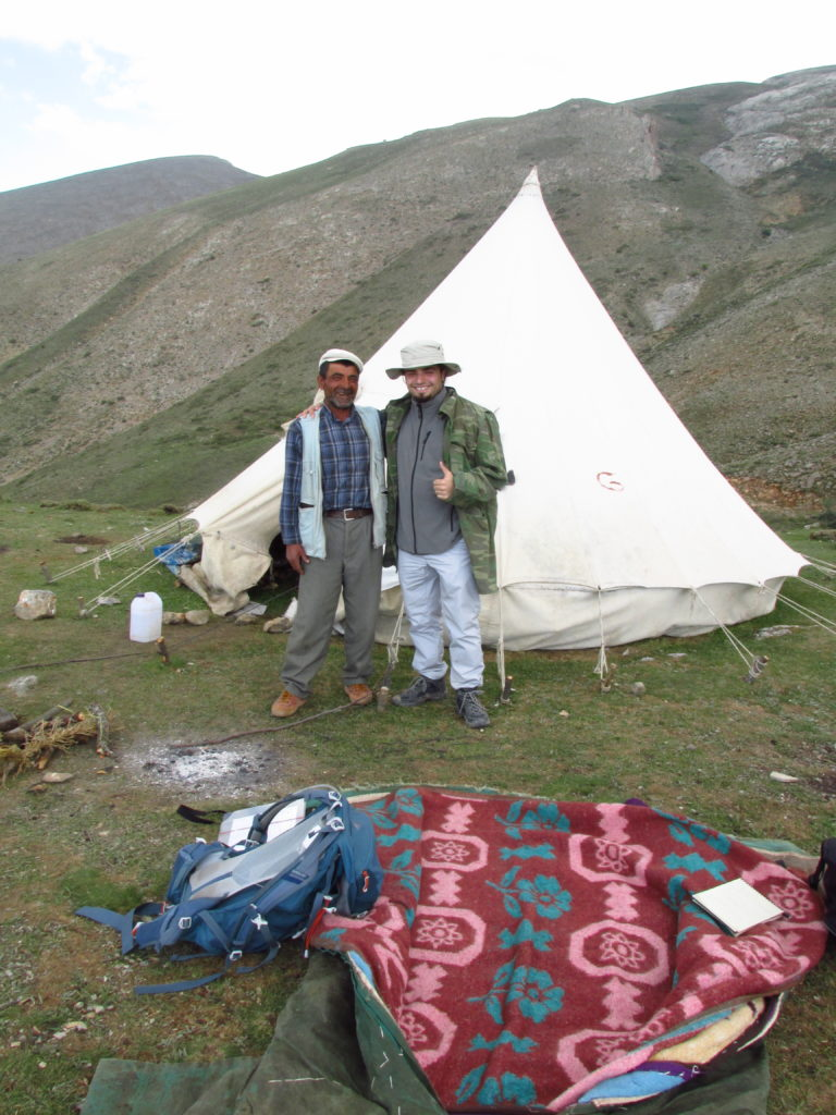 My field assistant Barbaros (right) with Akkaş at the shepherd's camp.