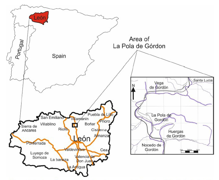 Figure 1 – Map outlining the area which La Pola de Gordón resides in.