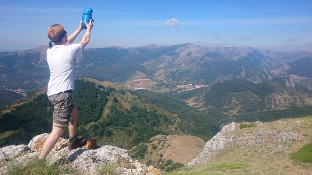 Figure 14 – Lion-kinging a plastic blue hippo across the Cantabrian mountians – check.