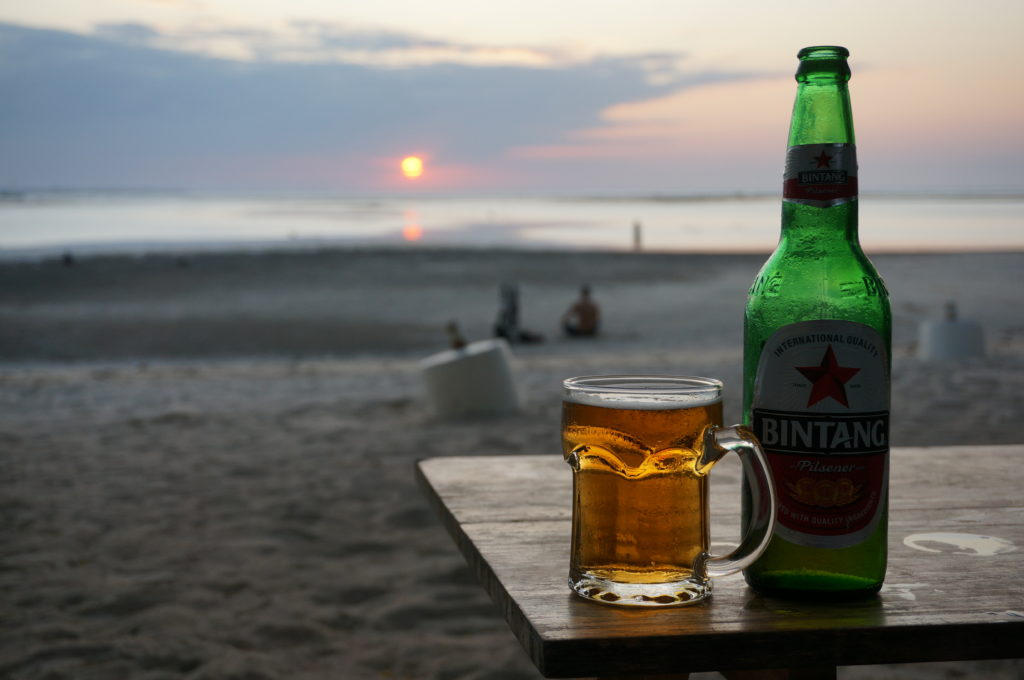 Bintang and sunset bliss at Cristo Rei beach