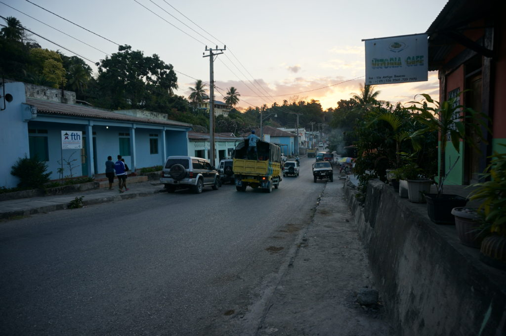 Sunset on the streets of Baucau
