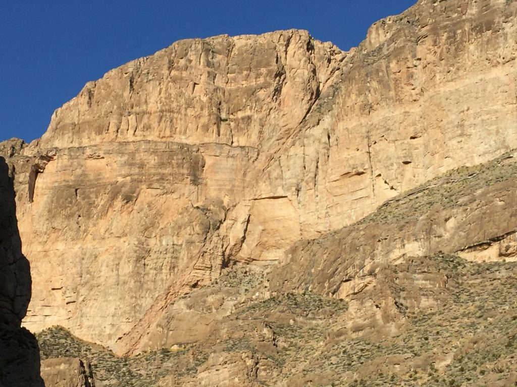 Normal fault exposed in Boquillas Canyon resulting from basin and range extension
